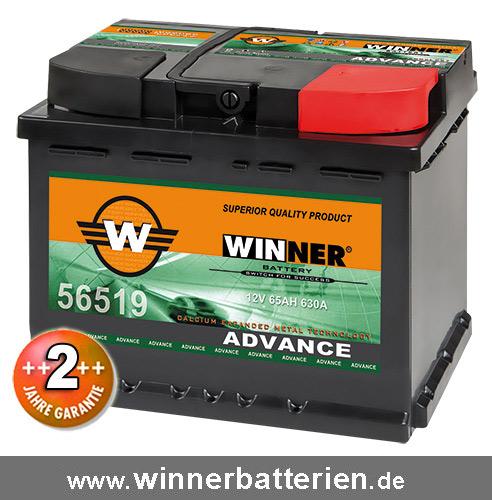 autobatterie 65ah 30 mehr leistung starterbatterie. Black Bedroom Furniture Sets. Home Design Ideas