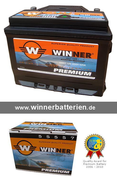 autobatterie 55ah starterbatterie 2 jahre garantie ersetzt. Black Bedroom Furniture Sets. Home Design Ideas