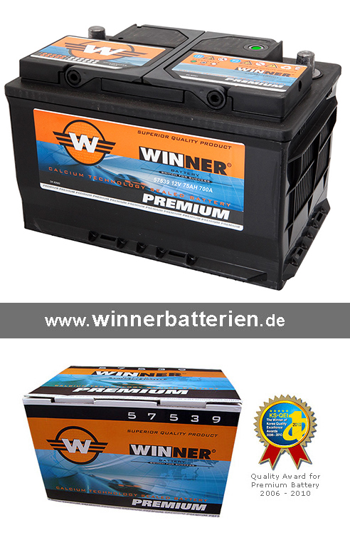 autobatterie 75ah starterbatterie 3 jahre garantie ersetzt. Black Bedroom Furniture Sets. Home Design Ideas
