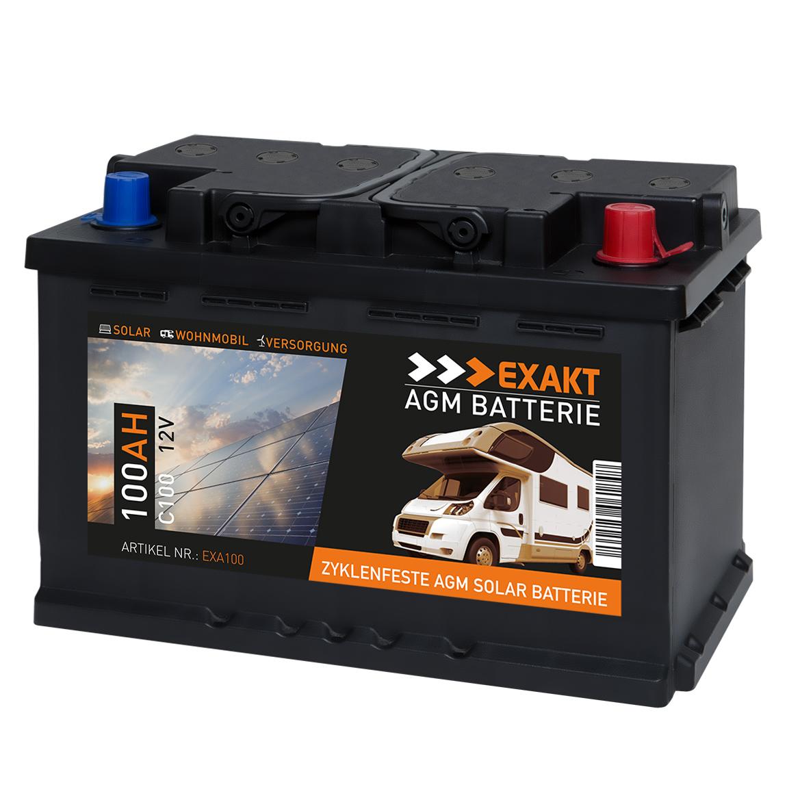 agm solarbatterie 100ah 12v wohnmobil versorgung boot. Black Bedroom Furniture Sets. Home Design Ideas