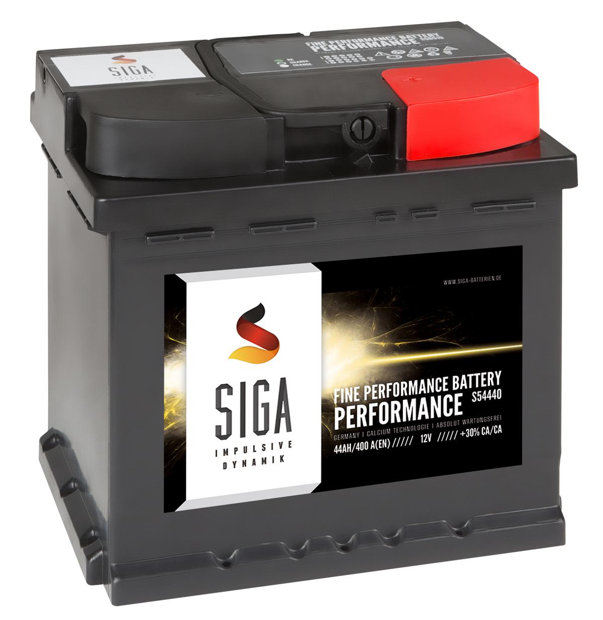 autobatterie siga 12v 44ah starterbatterie ersetzt 36ah. Black Bedroom Furniture Sets. Home Design Ideas