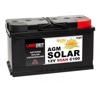 Langzeit AGM Solar 90Ah 12V