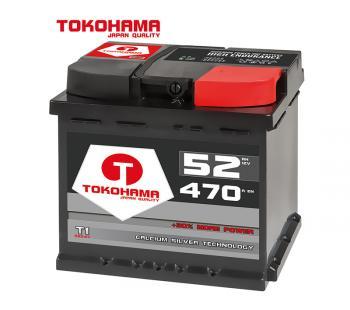 Tokohama T1 Autobatterie 52Ah 470A