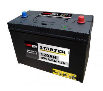 Langzeit Starterbatterie 120Ah LKW Batterie Traktor