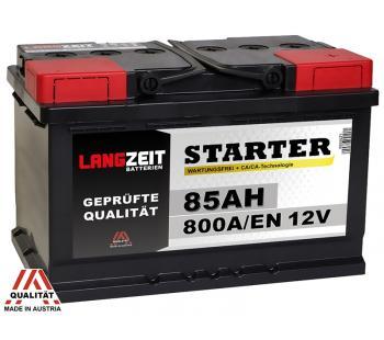 LANGZEIT Autobatterie 85AH / 12V / 800A/EN