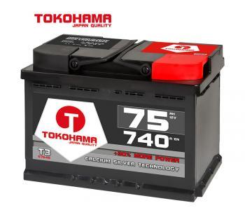 Tokohama Autobatterie 12V / 75AH / 740A/EN
