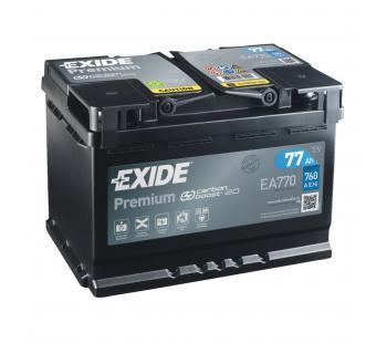 Exide Autobatterie 77Ah EA770