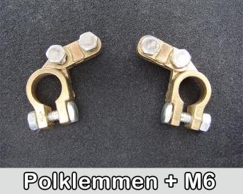 Polklemmen mit M6 Schrauben