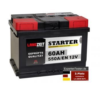 LANGZEIT Starter Autobatterie 60Ah 12V