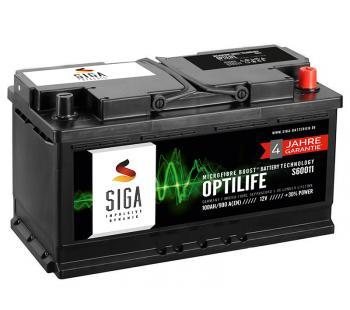 SIGA OptiLife 12V 100Ah Autobatterie 4 Jahre Garantie