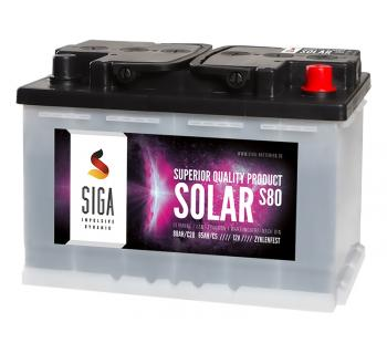 SOLAR 80Ah Semi-Traktionsbatterie SIGA