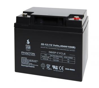 Phaeton AGM Batterie 40Ah 12V Blei Akku