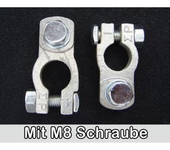 Polklemmen mit M8 Schraube