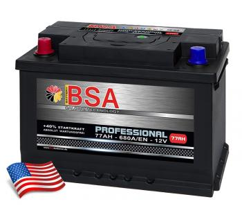 BSA Professional Autobatterie 77Ah +Pol links