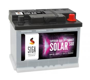 SOLAR 60Ah Semi-Traktionsbatterie SIGA