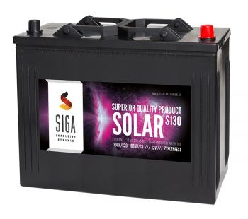 SOLAR 130Ah Semi-Traktionsbatterie SIGA
