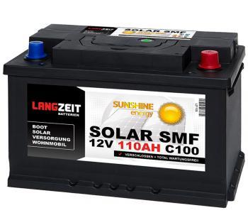 SOLAR SMF 110Ah Solarbatterie Langzeit