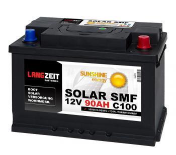 SOLAR SMF 90Ah Solarbatterie Langzeit