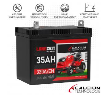 LANGZEIT Batterie 35Ah Rasenmäher Rasentraktor PPR