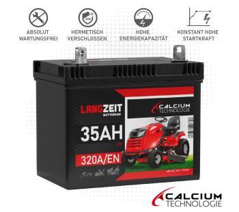 Langzeit Batterie 35Ah Rasentraktor Aufsitzmäher PPL