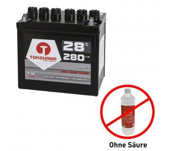 Tokohama Rasentraktor Batterie 28Ah 12V +Pol links