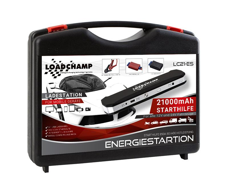 loadchamp 21000mah 850a starthilfe energiestation. Black Bedroom Furniture Sets. Home Design Ideas
