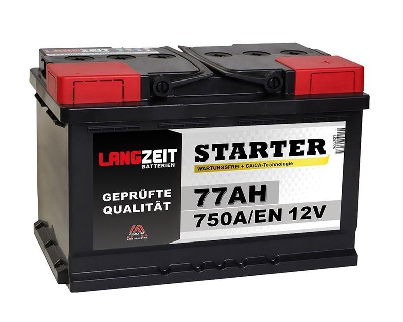 autobatterie 77ah 12v langzeit 175mm. Black Bedroom Furniture Sets. Home Design Ideas