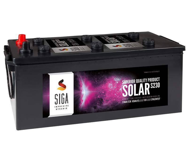 siga solar batterie 230ah 12v solarbatterie. Black Bedroom Furniture Sets. Home Design Ideas