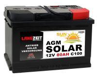 Langzeit AGM Solar 80Ah 12V