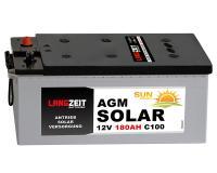 Langzeit AGM Solarbatterie 180AH Wohnmobil Versorgung