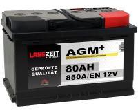 Langzeit AGM+ 80AH 12V VRLA Autobatterie