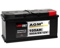 Langzeit AGM+ 105AH 12V VRLA Autobatterie