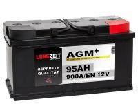 Langzeit AGM+ 95AH 12V VRLA Autobatterie