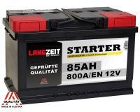 Langzeit 85Ah 800A 12V Autobatterie