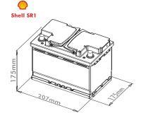 Shell 12V 44Ah Autobatterie