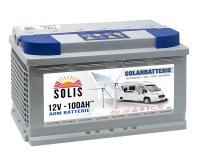 Solis Solar AGM 100Ah Batterie