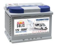 Solis Solar AGM 60Ah Wohnmobil Batterie
