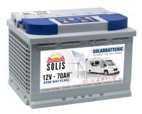 Solis Solar AGM VRLA Wohnmobil-Batterie 70Ah