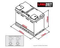 Langzeit Autobatterie 63Ah / 12V