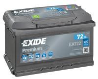 Exide Autobatterie 72Ah EA722