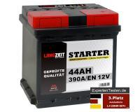LANGZEIT Starter Autobatterie 44Ah 12V