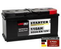 LANGZEIT Starter Autobatterie 110Ah 12V