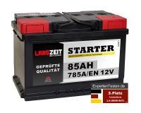 LANGZEIT Starter Autobatterie 85Ah 12V