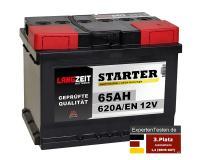 LANGZEIT Starter Autobatterie 65Ah 12V