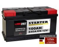 LANGZEIT Starter Autobatterie 100Ah 12V