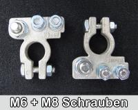 Polklemmen verzinkt M8 + M6 Schrauben