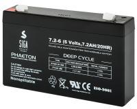 AGM 7,2Ah 6V Akku Blei Batterie