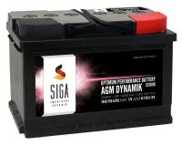SIGA AGM Dynamik Autobatterie 70Ah