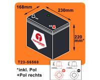 Tokohama Autobatterie 65Ah 580A/EN