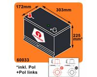 Tokohama Asia Japan Autobatterie 12V / 100AH / 800A/EN + Plus Pol Links